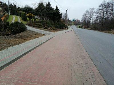 Budowa chodnika w miejscowości Nawsie