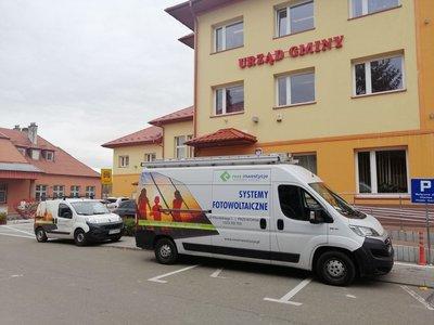 Montaż instalacji fotowoltaicznej  dla budynku Urzędu Gminy w Wielopolu Skrzyńskim