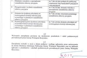 zarządzenie w sprawie harmonogramu czynności w postępowaniu rekrutacyjnym  na rok szkolny 2020/2021 - 2.jpg