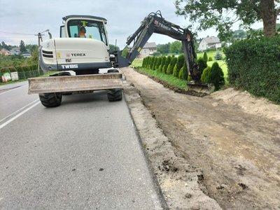 Przebudowa drogi wojewódzkiej Nr 986 Tuszyma - Ropczyce – Wiśniowa  polegająca na budowie chodnika dla pieszych m. Glinik