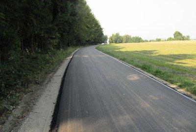 Przebudowa drogi Broniszów Dół - Lasek