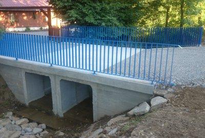 Przebudowa przepustu na potoku Iwierna w ciągu drogi Brzeziny - Jaszczurowa - Dzilik