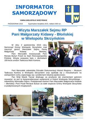 Informator Samorządowy - październik 2015