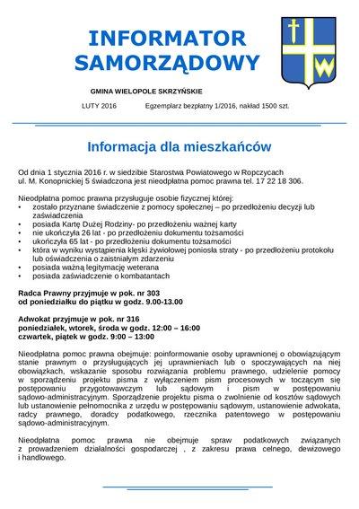 Informator Samorządowy - luty 2016