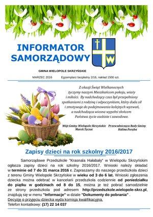 Informator Samorządowy - marzec 2016