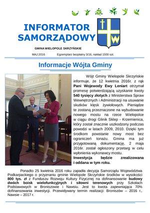 Informator Samorządowy - maj 2016