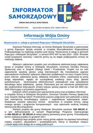 Informator Samorządowy - wrzesień 2016
