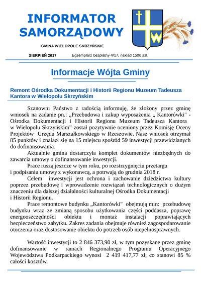 Informator Samorządowy - sierpień 2017