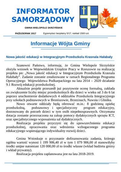 Informator Samorządowy - październik 2017