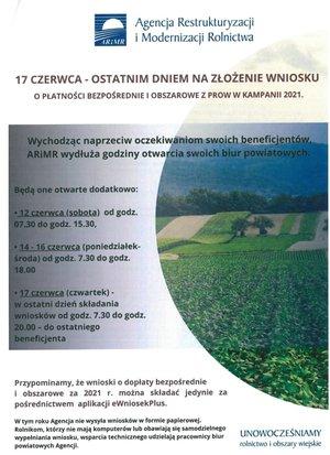 17 czerwca - ostatnim dniem składania wniosków na dopłaty bezpośrednie dla rolników