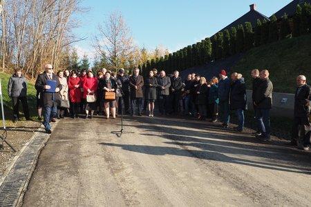 Uroczyste oddanie do użytku  przebudowanej drogi gminnej  Glinik – Łysa Góra – Mała