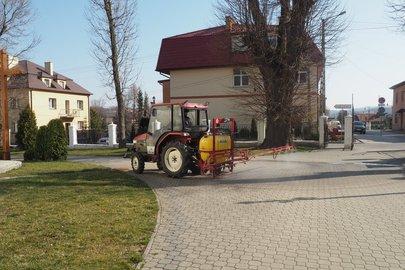 Dezynfekcja  przestrzeni publicznej w Gminie Wielopole Skrzyńskie