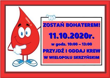 Akcja Honorowego Oddawania Krwi - 11 października 2020 r.