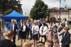 Akcja informacyjna Rodzina 500 plus w Wielopolu Skrzyńskim