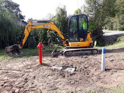 Budowa sieci wodociągowej w miejscowości Glinik w ramach środków RPO WP