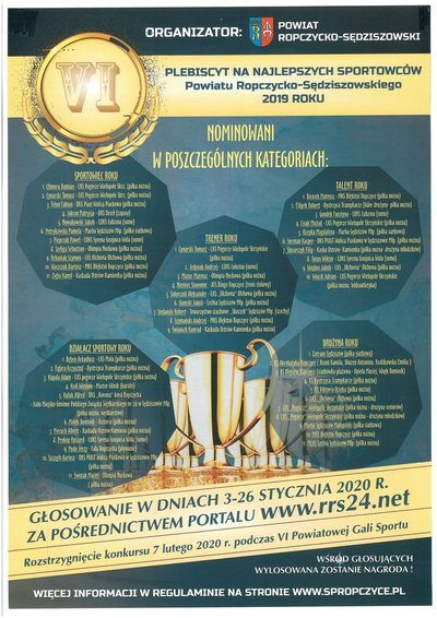 Plebiscyt na najlepszych sportowców powiatu - oddaj głos na swojego faworyta