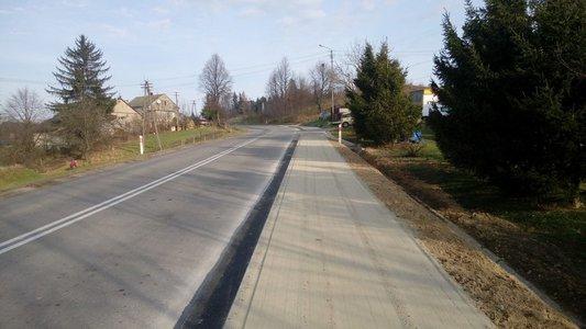 Budowa chodnika przy drodze wojewódzkiej nr 986 Tuszyma - Ropczyce – Wiśniowa w km 31+705 - 31-778 w m. Glinik