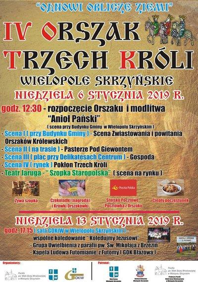 IV Orszak Trzech Króli w Wielopolu Skrzyńskim