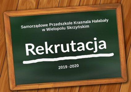E - Nabór do Przedszkola Krasnala Hałabały w Wielopolu Skrzyńskim - Rekrutacja 2019/2020