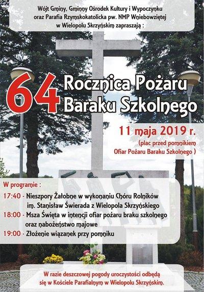 64 rocznica pożaru kina w Wielopolu Skrzyńskim