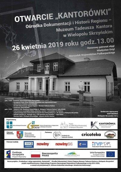 """Uroczyste otwarcie """"KANTORÓWKI"""" Ośrodka Dokumentacji i Historii Regionu – Muzeum Tadeusza Kantora  w Wielopolu Skrzyńskim"""