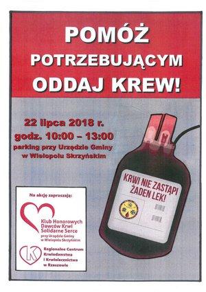 Pomóż potrzebującym -  oddaj krew!