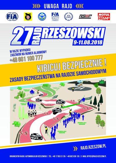 27 Rajd Rzeszowski - informacja dla Mieszkańców Gminy Wielopole Skrzyńskie