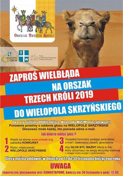 """Zaprośmy wielbłąda na """"Orszak Trzech Króli"""" do Wielopola Skrzyńskiego"""