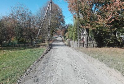 Przebudowa drogi gminnej Broniszów - Zalesie