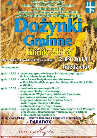 Dożynki Gminne - Glinik 2018