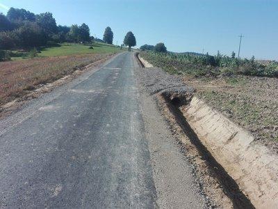 Przebudowa drogi gminnej Brzeziny Łęg