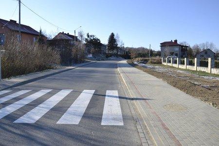 Budowa chodnika wzdłuż drogi powiatowej  Nr 1296R Dębica – Wielopole Skrzyńskie polegająca na budowie chodnika w miejscowości Wielopole Skrzyńskie