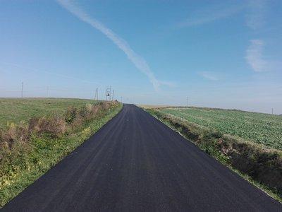 Przebudowa drogi Brzeziny - Pogwizdów