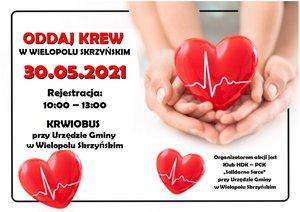 Akcja Honorowego Oddawania Krwi - 30 maja 2021r.