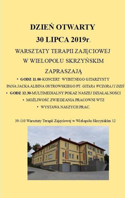 Dzień Otwarty Warsztatów Terapii Zajęciowej w Wielopolu Skrzyńskim