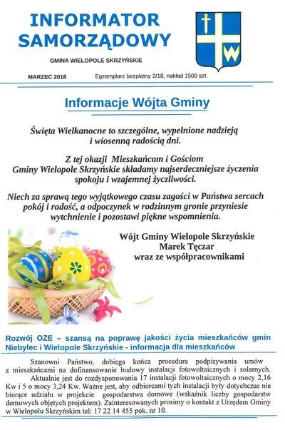 INFORMATOR SAMORZĄDOWY - MARZEC 2018