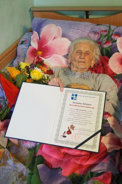 Jubileusz 100-lecia urodzin pani Michaliny Rakoczy z Brzezin