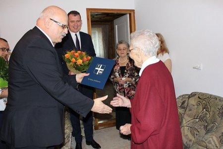 Jubileusz 100 - lecia urodzin Pani Genowefy Bizon z Broniszowa