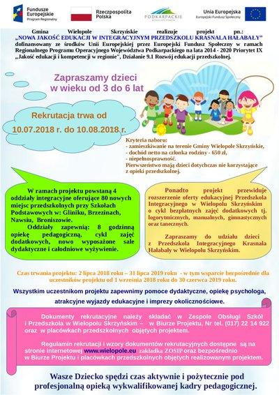 Nowa Jakość Edukacji w Integracyjnym Przedszkolu Krasnala Hałabały