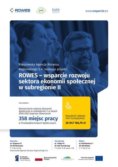 """""""ROWES - wsparcie rozwoju sektora ekonomii społecznej w subregionie II"""""""