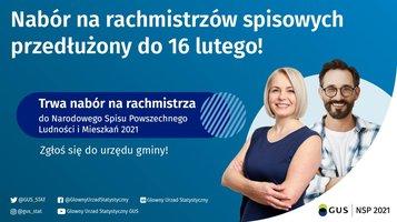 Komunikat w sprawie przedłużenia terminu naboru kandydatów na rachmistrzów spisowych