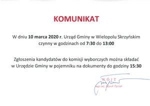 Zmiana godzin otwarcia Urzędu Gminy w Wielki Piątek 10 kwietnia