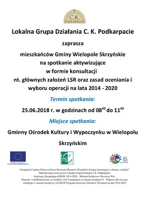 Spotkanie aktywizujące w Wielopolu Skrzyńskim