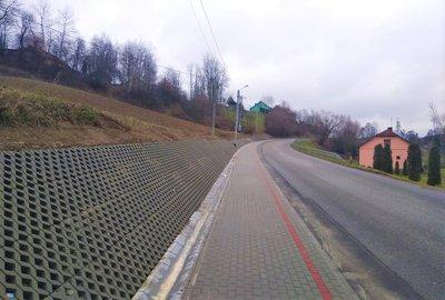 Budowa chodnika dla pieszych wzdłuż drogi powiatowej  Sędziszów Małopolski - Bystrzyca - Wielopole Skrzyńskie w miejscowości Nawsie