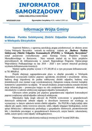 Informator Samorządowy - wrzesień 2019